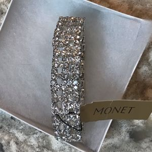 Monet Jewelry Crystal Stretch Bracelet